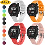 Vozehui Compatible with Garmin Forerunner 645/Forerunner 245/245 Music Bands, 20mm Soft Silicone Replacement Band for Garmin