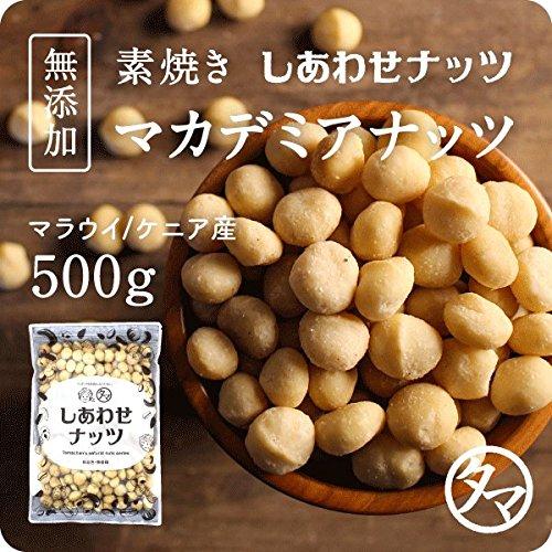 マカデミアナッツ 500g(250g×2袋) (無添加 無塩 ロースト 素焼き)