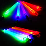 LED Glow Sticks Mini Flashlights Reusable with 1 Modes, Kids,10-packs Assorted Colors Light Up Toys Bulk Party Favors Perfect