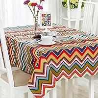 スカンジナビアのハイエンドテーブルクロスは、しわ防止印刷した長方形のレストラン多目的カバー布を厚くした ( 色 : Pattern 3 , サイズ さいず : 90*140cm )