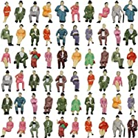 P87S-60 人形 人物 人々 人間 人間フィギュア 塗装人 情景コレクション ザ ? 鉄道模型?ジオラマ?建築模型?電車模型に 17㎜ スケール:1/87 60個セット