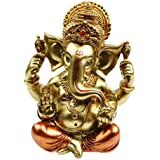 "BangBangDa 6.3"" H Resin Hindu God Statue Ganesh Figurine India Buddha Elephant Lord Ganesha Sculpture Indian Idol Religious C"
