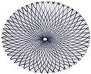 ニシキ 丸皿(お刺身用) D-30 網目ブルー 10枚 2100303150