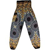 Inlefen Women Printing Loose Lantern Yoga Pants Trousers Hippy Smock Yoga Pants
