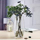 花瓶 ガラス 花瓶 おしゃれ 大 花瓶北欧 花瓶 30cmフラワーベース 花器 バスケット 花瓶 ガーデン ガラス グラ…