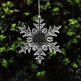 ccHuDE 20 Pcs Clear Acrylic Christmas Snowflake Decor Xmas Tree Hanging Ornaments Window Decoration Snow Theme Decoration 83m