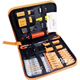 Professional 13 in 1 Network Computer Maintenance Repair Kit,ethernet crimper kit - RJ45 Crimp Tool, RJ45 Network Cable Test