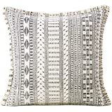 EYES OF INDIA - Boho Dhurrie Printed Colorful Decorative Pillow Cover, Bohemian Throw Cushion Case, Indian Throw Accent, Hand