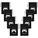 AhlsenL 24 Pack Video Game Party Supplies Gaming Party Bags Drawstring Bags Gaming Party Decorations for Kids Video Game Them