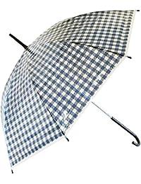 99092/ジップコーポレーション/おめかしアンブレラ(ギンガクチェック?ネイビー)/傘/雨/梅雨/レイン/グッズ/大人/婦人/ギフト/プレゼント