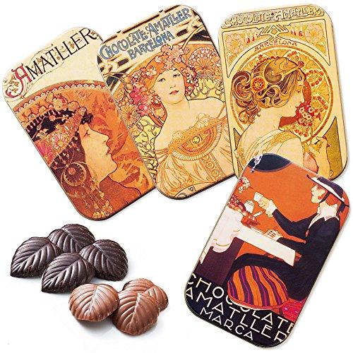 スペインお土産 アマリエ 缶入りリーフチョコレート 4缶セット