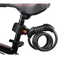 摩托車 撥號鎖 鋼絲鎖 自行車鎖 長1200毫米 橫截面直徑12毫米 5位 防盜