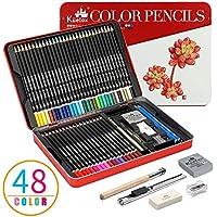 色鉛筆 kasimir 48色鉛筆 彩色鉛筆 油性色鉛筆 アート鉛筆 塗り絵用 絵の具 子供用 お絵描き 鉛筆セット