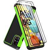 Dahkoiz Case for Samsung Galaxy A51 5G Case with Tempered Glass Screen Protector[2 Pack],Drop Protection Armor Defender Cover