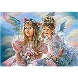 Pure Angel DIYデジタルペイントby Numbersキットハンドペイントonキャンバスの大人と子供フレームなし