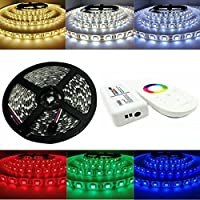 YZUEYT 5M防水SMD 5050 RGB 300 LEDフレキシブルストリップライト+ 2.4Gタッチコントロール+ RGBコントローラDC12V YZUEYT (Color : Color: RGB)