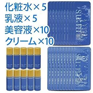 Su:m37°(スム37) ウォーターフル 化粧水・乳液・美容液・クリーム サンプルセット +油取り紙付き / sum37 Water-full skin, lotion, essence, cream sample set + gift [並行輸入品]