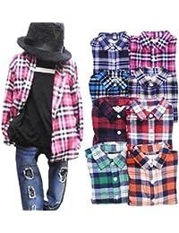 子供服 チェックネルシャツ SHISKY