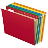Pendaflex Hanging File Folders, Letter Size, Assorted Colors, 1/5-Cut Adjustable Tabs, 25 Per Box (81663)