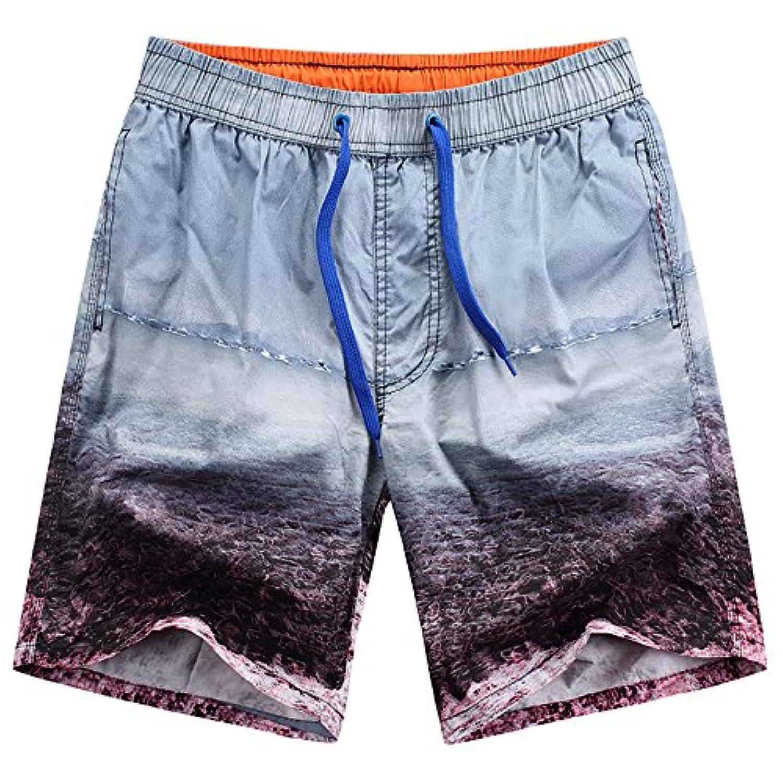 Kayiyasu サーフパンツ メンズ 水着 海水パンツ 男性用 短パン ショーツ 水泳 ショートパンツ 021-gsy-759(XL グレー )
