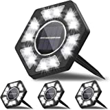 Karvipark Solar Ground Lights,12 LED Garden Lights Solar Powered Patio Outdoor Lights Waterproof In-ground Landscape Lighting