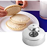 Sandwich Cutter and Sealer for Kids, 3-1/2-Inch DIY Uncrustables Round Sandwich Maker, Stainless Steel Cut and Seal, Sandwich