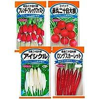 日本農産種苗 ラディッシュ(二十日大根)セット