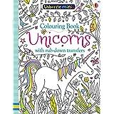 Mini Books Colouring Book Unicorns with Rub-Down Transfers