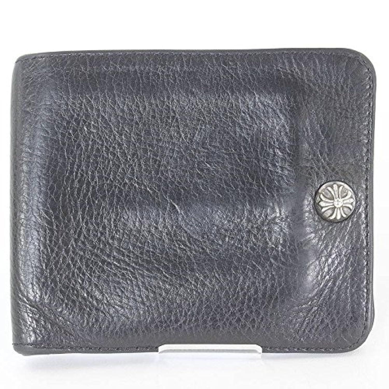 (クロムハーツ)Chrome Hearts 【1SNAP/1スナップ】クロスボタンレザーウォレット財布(ブラック×シルバー) 中古