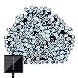 CVLIFE クリスマスイルミ(22m 200球)(ホワイト)自動的にON/OFFソーラー充電式LEDイルミネーション