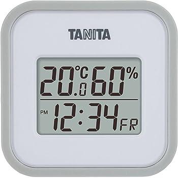 タニタ 温湿度計 デジタル グレー TT-558 GY 壁掛け 卓上 マグネット