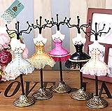 【sweet girl】 アクセサリー をオシャレに飾って アンティーク 風 ジュエリースタンド ドレス トルソー ジュエリー ホルダー ディスプレイ (レッド)