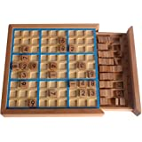 Larcele Wooden Number Puzzles Sudoku Board Games SD-02