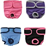 OMAS 4pc Pet Parents Premium Washable Dog Diapers Doggie Diapers Female Male Dog(S)