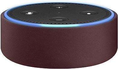 Amazon Echo Dot用レザーケース メルロー