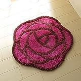 薔薇のフリーマット パープル 玄関マット インテリアマット トイレマット