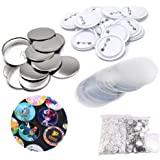 TOAUTO 37mm 1.5inch Pin Back Button Parts 100pcs for Badge Maker Machine Button Made DIY Crafts (37mm Button Parts)