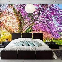Mingld カスタム写真壁紙3D桜の木大壁画花の壁紙リビングルームテレビソファ背景寝室の壁3D-250X175Cm