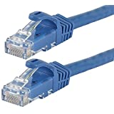 Monoprice Flexboot Cat6 Ethernet Patch Cable - Network Internet Cord - RJ45, Stranded, 550Mhz, UTP, Pure Bare Copper Wire, 24