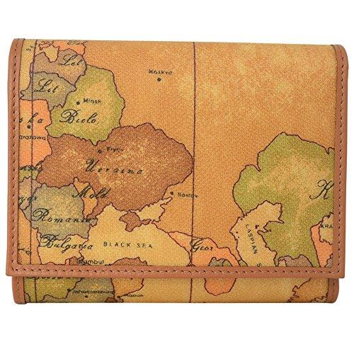 (プリマ・クラッセ)PRIMA CLASSE プリマクラッセ 財布 三つ折り 財布 小銭入れあり W015 6000 NATURAL Geo Classic 世界地図柄 マップ柄 ベージュ系 メンズ レディース サイフ ウォレット [並行輸入品]
