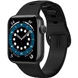 Spigen Apple Watch 44mm 42mm Strap Silicone Fit - Black