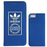 アディダス リュック TeamS(チームエス) adidas アディダス iPhone7 ケース 手帳型 ブランド スマホケース アイホン7 ケース normal ノーマル ブルー 当店オリジナルフィルム付き [並行輸入品]