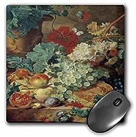3drose LLC 8x 8x 0.25インチフルーツStill Life by Jan van Huysum Grapes、ザクロ、Peaches and Plumsマウスパッド(MP 149701_ 1)