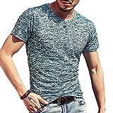 (メイク トゥ ビー) Make 2 Be メンズ ワイルド Tシャツ ミリタリー ストレッチ 薄手 KB66(21.DarkGreen_L)