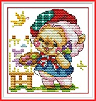 LovetheFamily クロスステッチキット 日本語解説書 DIY 手作り刺繍キット 正確な図柄印刷クロスステッチ 家庭刺繍装飾品 11CT ( インチ当たり11個の小さな格子)中程度の格子 刺しゅうキット フレームがない