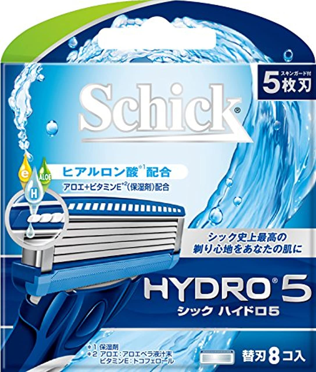 シックSchick 5枚刃ハイドロ5替刃8コ入 男性カミソリ