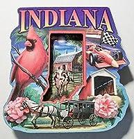 インディアナ州モンタージュArtwood冷蔵庫マグネット