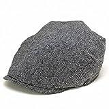 ハンチング 夏 帽子 メンズ カジュアル 春 ステットソン stetson シャンブレー メンズ帽子 ivy cap ブラック(L(約58cm))
