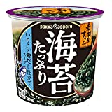 ポッカサッポロ フード&ビバレッジ 素材屋すうぷ海苔たっぷりいりこと鰹だし仕立てスープ12.2gカップ×6本