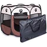 Portable Folding Pet Tent Dog House Octagonal Cage for Cat Tent Playpen Puppy Kennel Easy Operation Fence Outdoor Big Dogs Ho